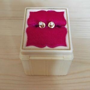 RON HAMI 14K YELLOW GOLD & DIAMOND EARRINGS